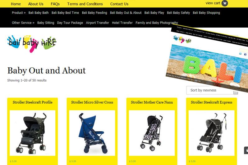 Bali Baby Hire's Website