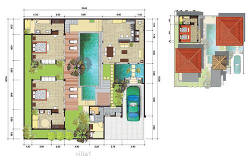 plan maison balinaise