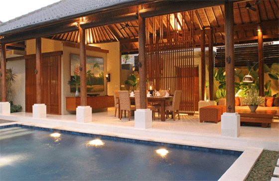 Pool Dining and Living - Laksmana Garden Villas