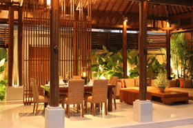 Dining and Living Area - Laksmana Garden Villas