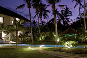 Garden at Night - The Shores Villa