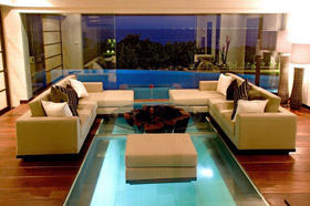 Living Area - The Shores Villa