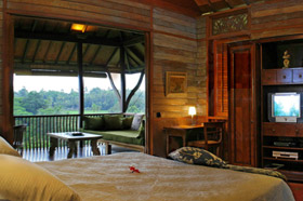 Bedroom With View - Villa Kirana