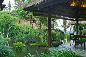Garden and Pond - Villa Kirana